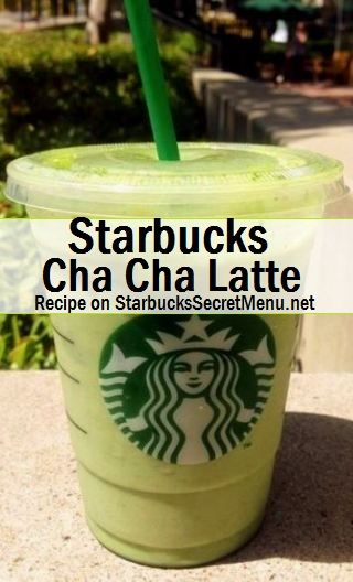 Starbucks Cha Cha Latte! #StarbucksSecretMenu Delicious matcha green tea and chai! Recipe: http://starbuckssecretmenu.net/cha-cha-latte-starbucks-secret-menu/