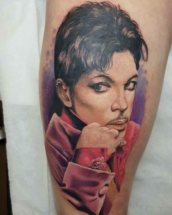 The Purple Stream: Vikki Cooke's tribute tattoo, by Simon Cooke from the Ink Spot Custom Tattoo Studio Silverdale, UK