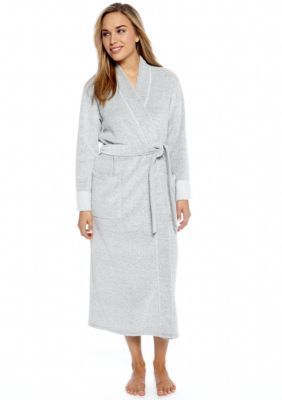 N Natori Heather Gray Brushed Terry Robe - PC4016