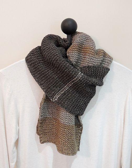 Ravelry: James Morris pattern by Yuki H.S. - I love a good garter stitch scarf.  <3