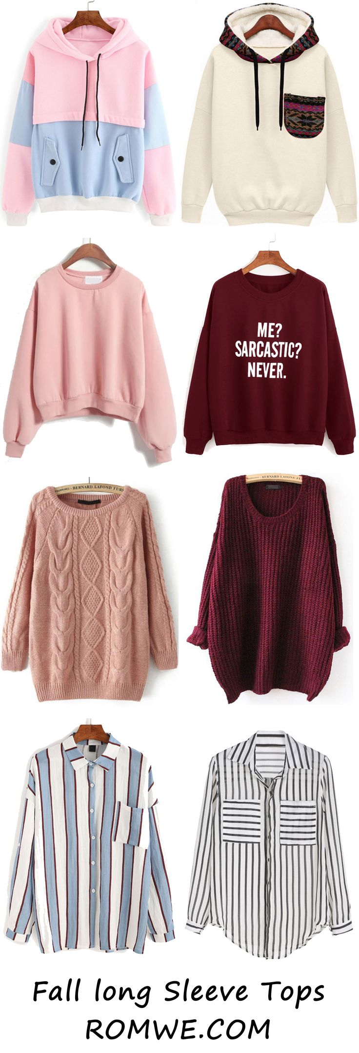 Fall Chic Long Sleeve Tops from romwe.com
