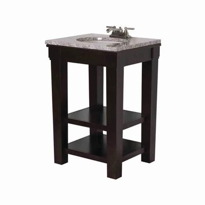 """Martha Stewart Skylands 24"""" vanity in Brindle Brown, comes with undermount ceramic sink.  Apparently the legs are solid wood.  349$ at Home Depot."""