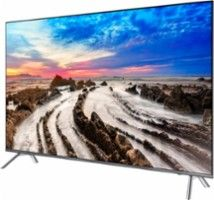 "Samsung - 82"" Class (82"" Diag.) - LED - 2160p - Smart - 4K Ultra HD TV with High Dynamic Range - Gray - Left Zoom"