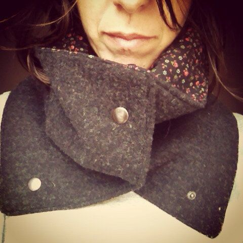 Let me warm you up - grey collar on Etsy, 29,42 €