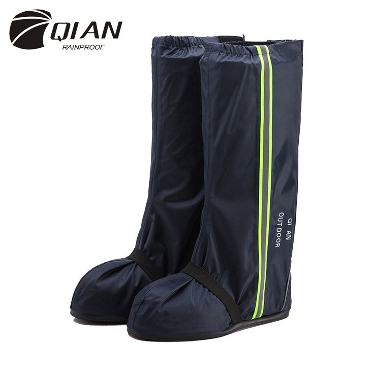 QIAN RAINPROOF Fashion Motorcycle Waterproof Rain Shoes Covers Thicker Non-slip Scootor Boots Covers Adjusting Tightness