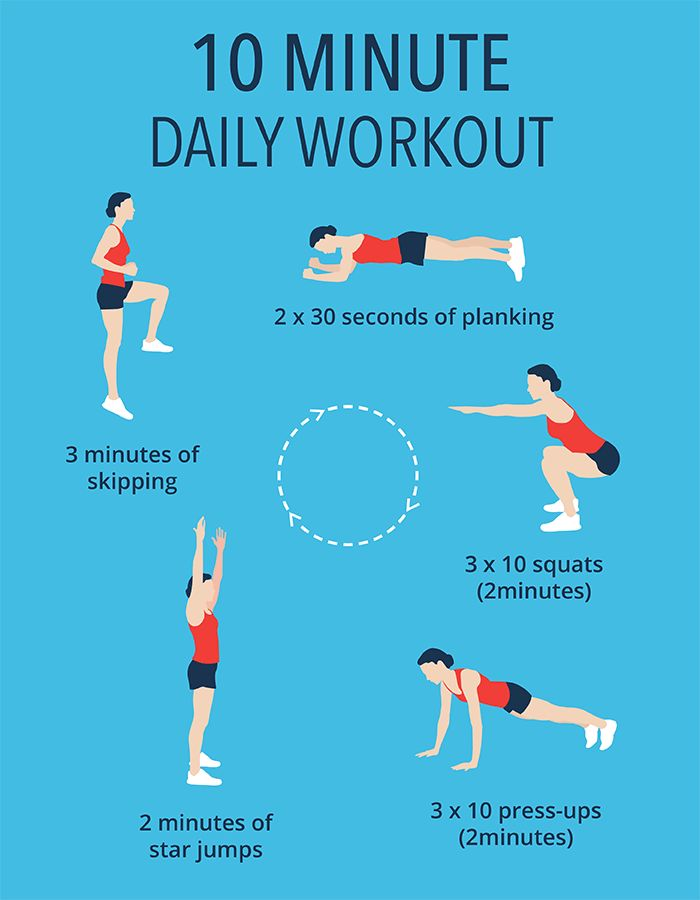 10 Minute Workout - Healthy Life | Our daily no gym workout comprises of a full body exercise routine to burn fat and increase fitness.