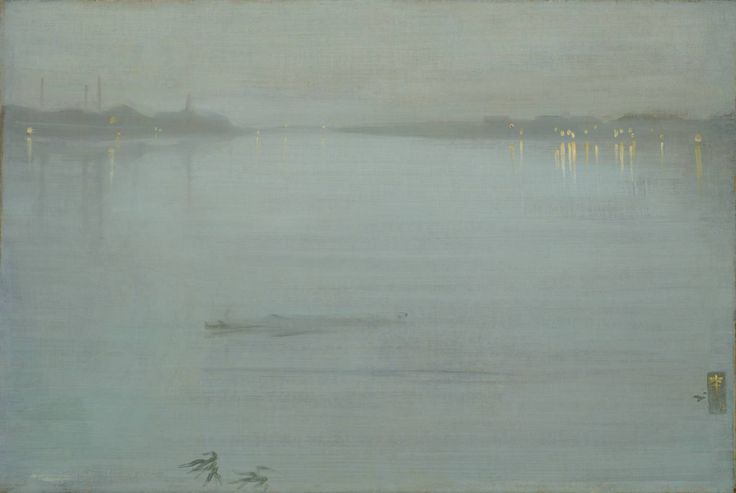 James Abbott McNeill Whistler (American 1834–1903) [Impressionism, Tonalism] Nocturne: Blue and Silver - Cremorne Lights, 1872.