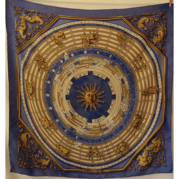 hermes-astrologie-dies-et-hores silk scarf, carré hermès, hermès tuch luxe petit prix