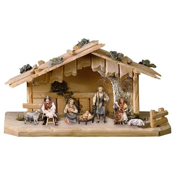 Szopka Bozonarodzeniowa Shepherds 9 Figurek Christmas Manger Miniature Houses Christmas Decorations