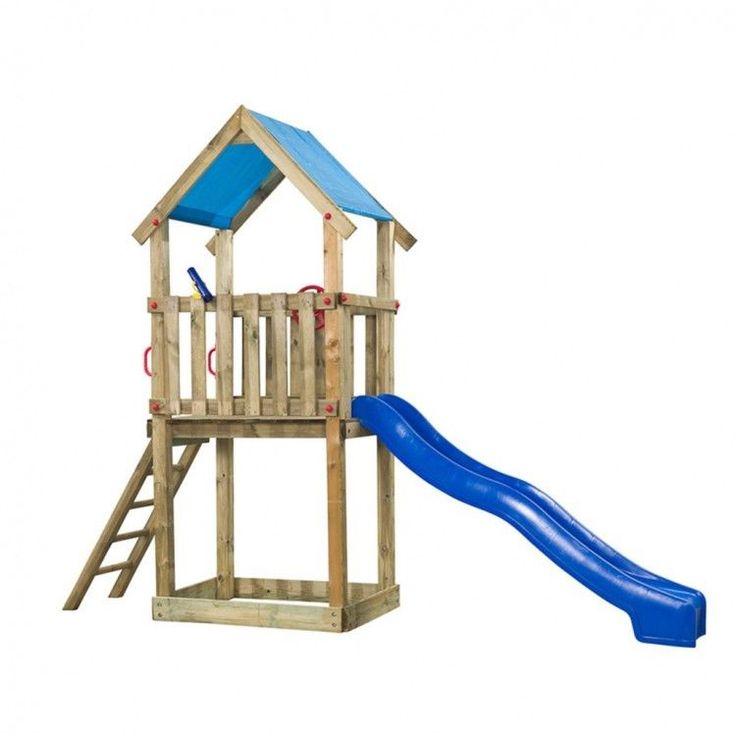 Kids Playhouse Set Ladder Wooden Playground Children Blue Slide Toy Fun Tower #KidsPlayhouseSet
