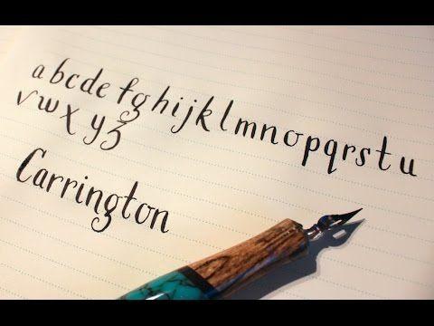 Learn Modern Calligraphy: Carrington - YouTube
