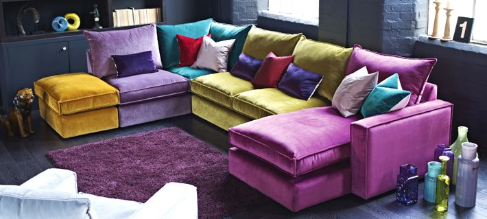 Love multicoloured sofas & chairs