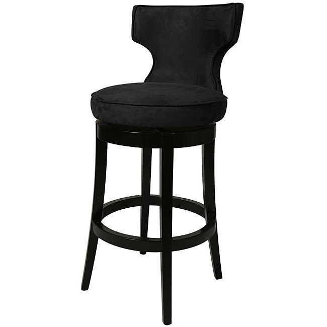 This beautiful swivel counter stool features black microfiber upholstery and a sturdy solid wood constructed frame  sc 1 st  Pinterest & Best 25+ Black counter stools ideas on Pinterest islam-shia.org