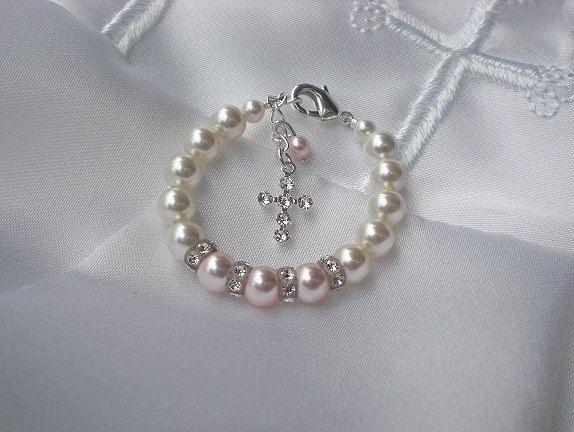Baby BraceletBaptismFirst by sugarontopjewelry on Etsy, $24.50