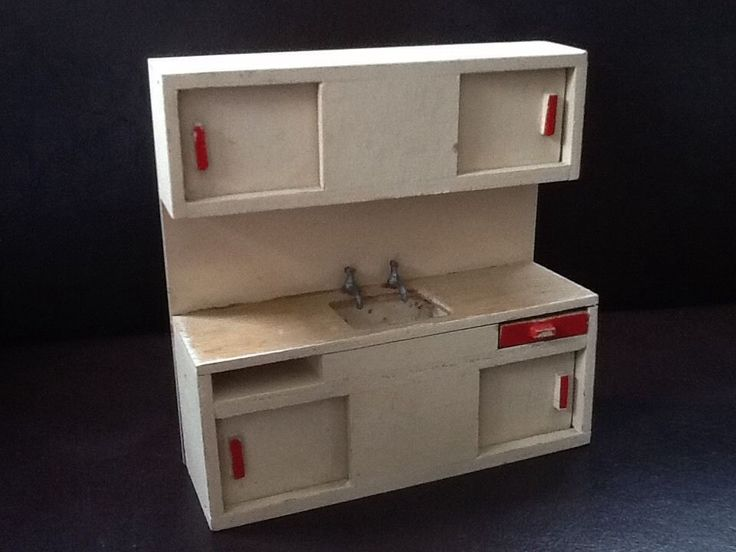 Vintage Dolls House Barton Kitchen Unit With Sink | eBay