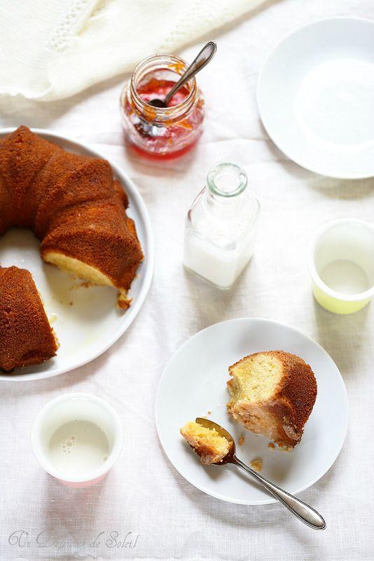 Gâteau fondant très amande parfumé à l'orange