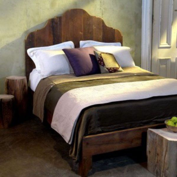 Antique Pine Bed Ships Free, Rustic and Reclaimed Beds #reclaimedwood #salvagedwood #barnwoodfurniture