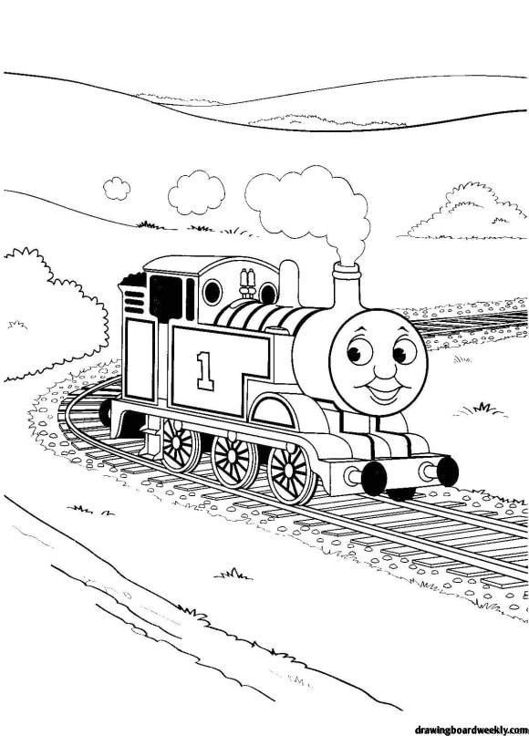 Coloring Page Thomas The Train Train Coloring Pages Cars Coloring Pages Coloring Pages To Print
