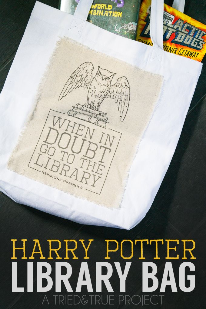 Harry Potter Library Bag