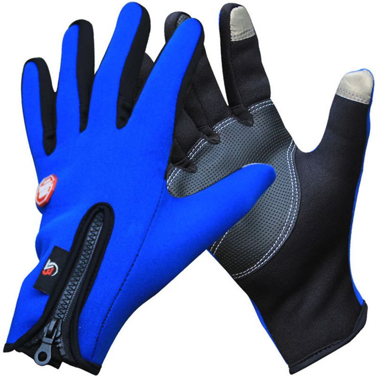 Outdoor Winter Thermal Bike Gloves Windproof Warm Full Finger Cycling, Ski, Hiking Touch Screen Glove for Men Women