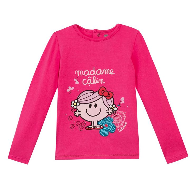 Little Miss Hug' T-shirt Fuchsia Catimini
