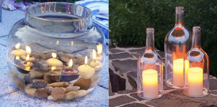 Gemütliche Kerzen im Garten mit diesen selbst gemachten Windlichter, 10 tolle Ideen! - DIY Bastelideen