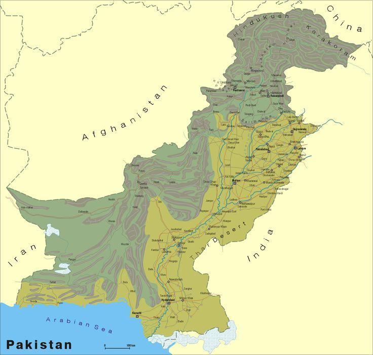 The Best Map Of Pakistan Ideas On Pinterest Himalayas Map - Map pakistan