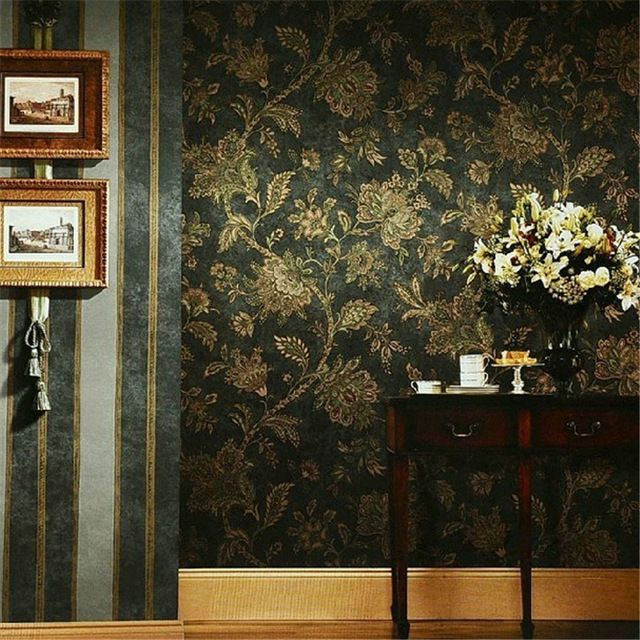 American rural countryside retro nostalgia papel de parede flower peacock flower AB edition wallpaper bedroom living room
