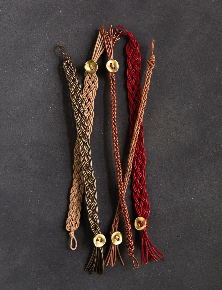 how to make leather bracelets from belts