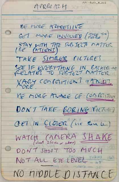 Don't Take Boring Photos, scribbles by Tony Ray Jones
