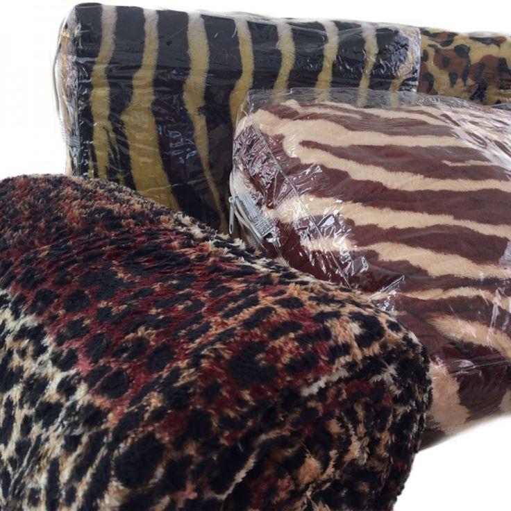 Manta Leve Microfibra Queen Animal Print...Aproveite agora!!