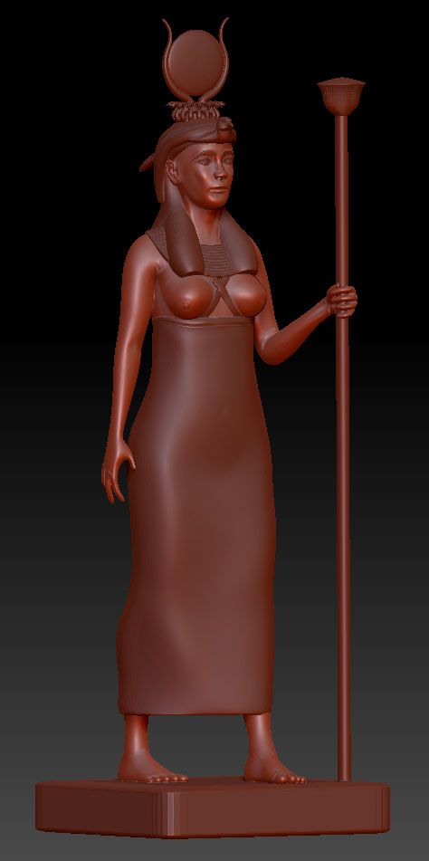 WIP. Isis. Egyptian Goddess. Need to add some detail work