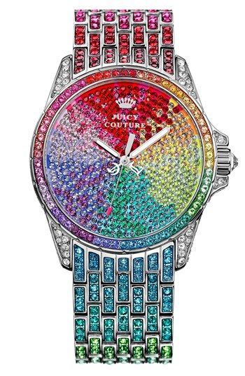 Juicy Couture 'Stella' Crystal Embellished Watch, 40mm available at #Nordstrom. The most beautiful watch I have ever seen!!!!!