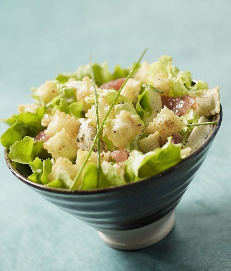 Recette Salade d'été aux ravioles frites - Une recette Saint Jean