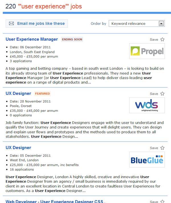 More informative job listings at Reed