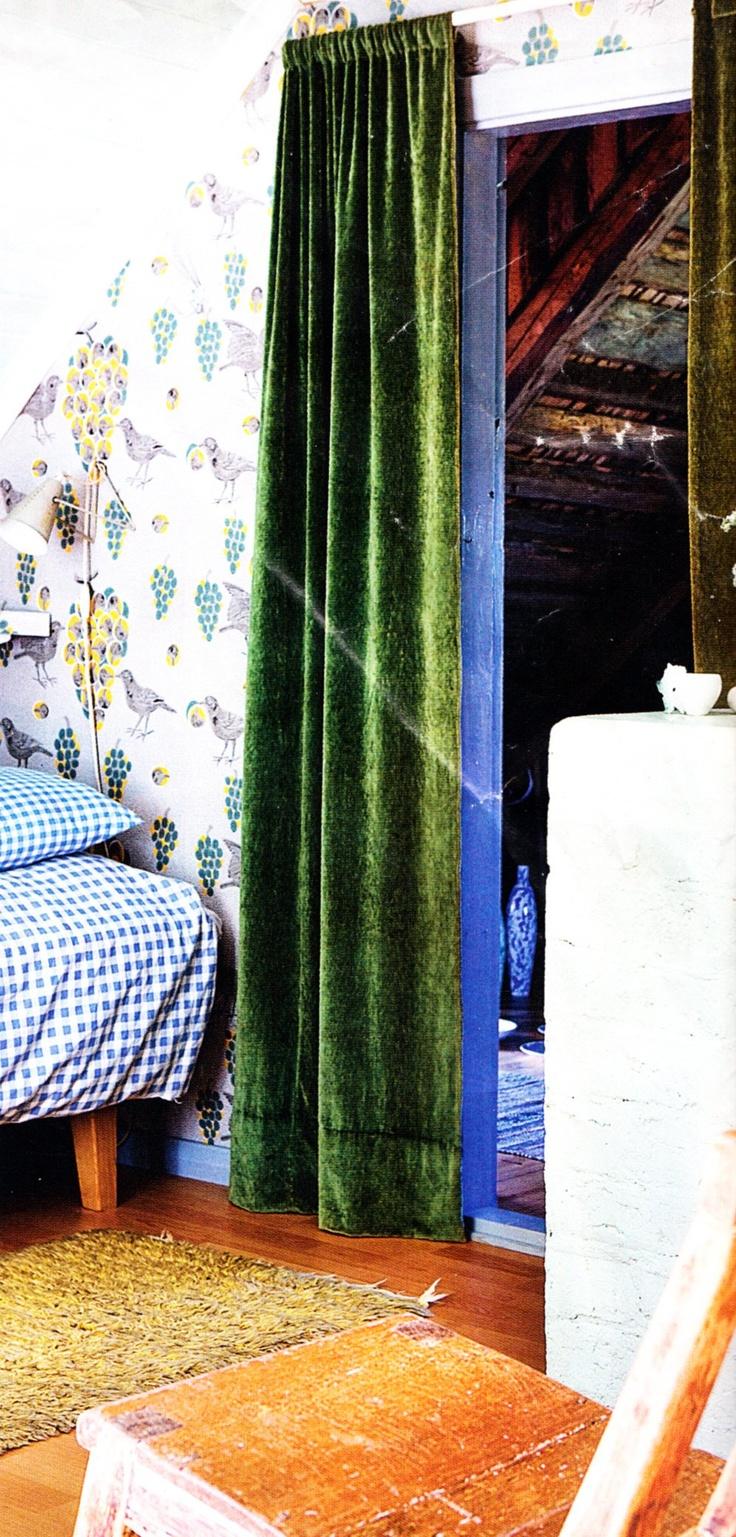 Kelly green velvet curtains - Emerald Green Velvet Curtains I So Need Those