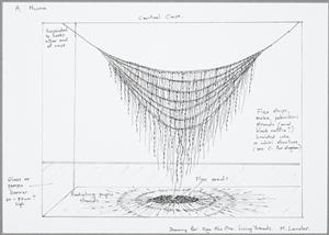 Concept drawing for Aho Kura Huna 2012 art installation by Maureen Lander