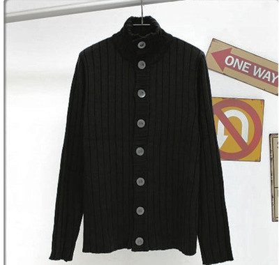 Mens small slim fitting buttoned up knit jacket. Check out the detailing around the collar. Awesome.