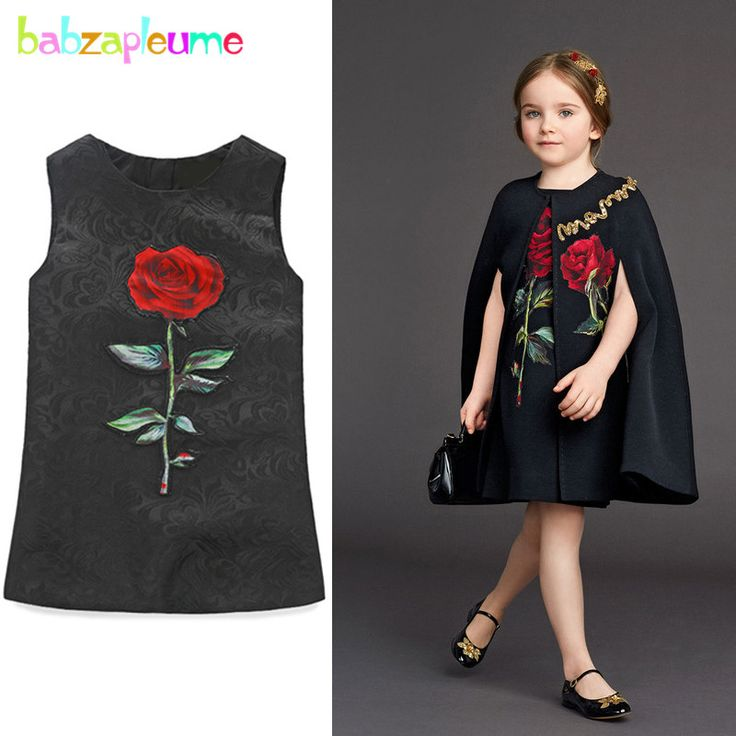 Cheap fashion girl dress, Buy Quality girls dress directly from China girl dress fashion Suppliers: babzapleume 3-10Years/spring summer flower girls dresses sleeveless fashion black baby princess dress children clothing BC1527
