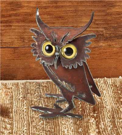 Quirky Metal Owl