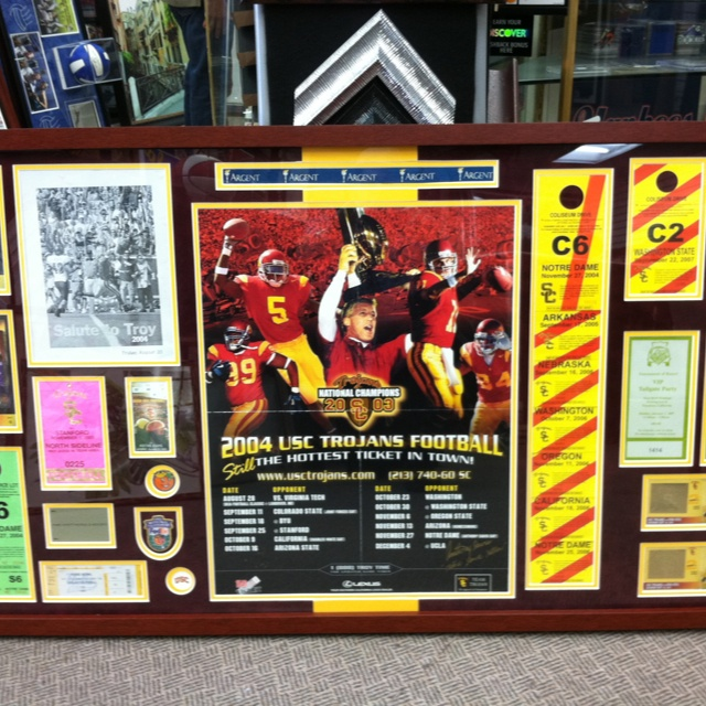 USC tickets display'