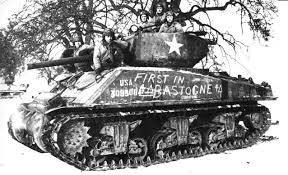 """The actual first Sherman tank to link up with the 101st in Bastogne, Belgium from the 4th Armored Div was named """"Cobra King"""". Cobra King is a M4A3E2 that now resides at Ft Benning, GA."""
