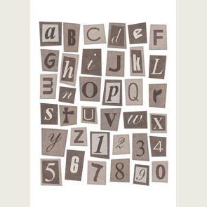 Plein d'alphabets à imprimer