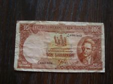 NEW ZEALAND 10 SHILLINGS NOTE/PAPER MONEY CONDITION: GOOD. T.P. HANNA