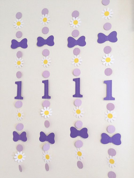 Daisy Duck themed 1st birthday Party Decor  by anyoccasionbanners