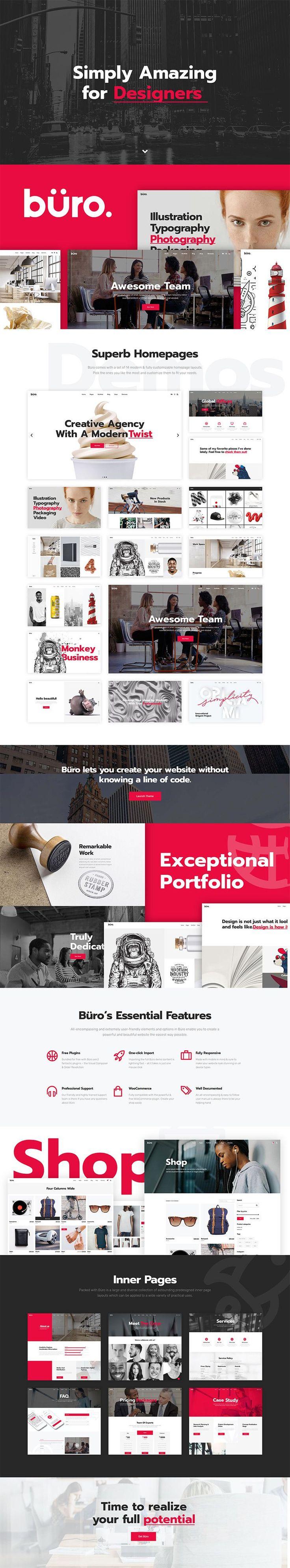 Büro Creative Agency and Freelancer Theme Web design