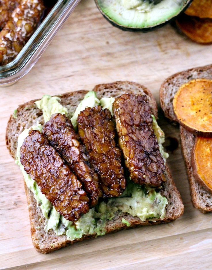 Guys, I'm addicted to the marinade in this recipe! It has the perfect balance of sweet, salty, and spicy that pairs beautifully with the nuttiness of the tempeh. Add in the roasted sweet potato sli…