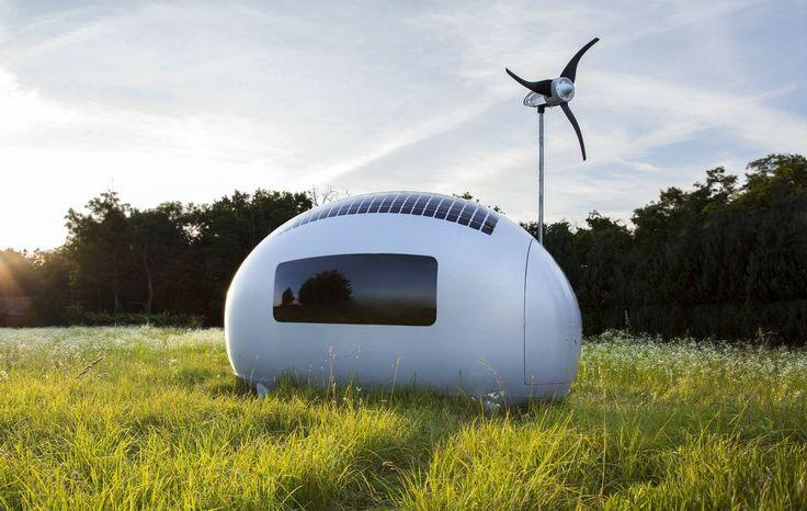 Mit nur sechs Quadratmeter Grundfläche zählt die Ecocapsule zu den kleineren Tiny Houses. Doch auch auf kleinstem Raum kann man autark leben, wie das slowakische Start-up beweist.