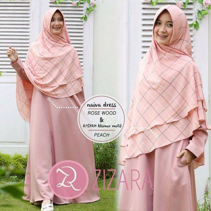 Gamis Zizara Naiva Dress Rosewood Baju Muslim Wanita