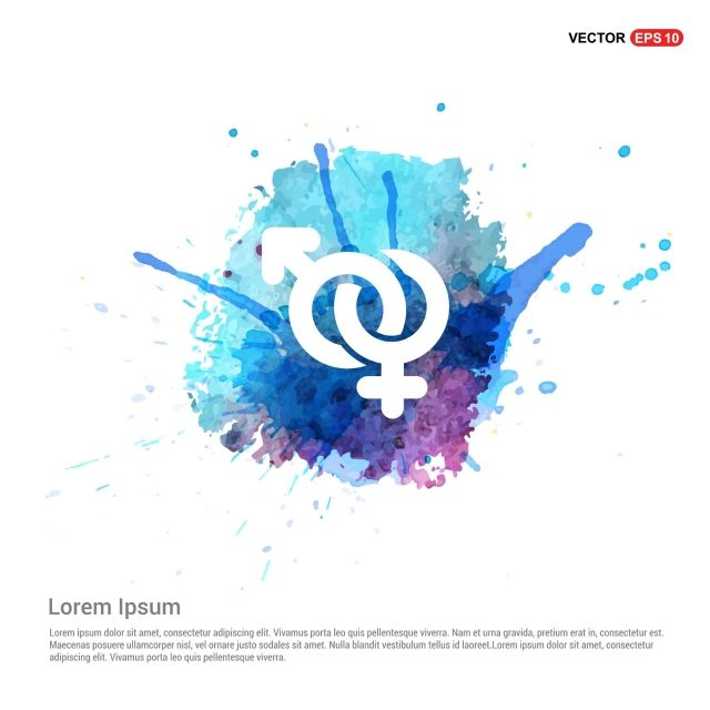 Male And Female Symbols Gender Icon Watercolor Background Png And Vector Cinsiyet
